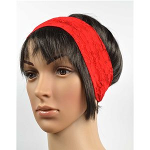 polyester hair band fashion embroidery width 7cm 70726