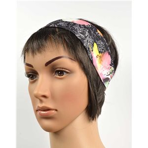 polyester hair band fashion flower width 7cm 70691