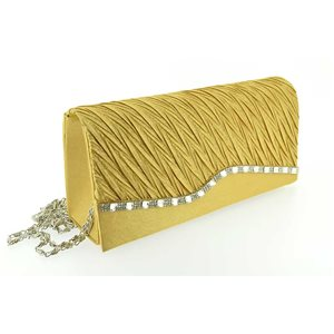 luxury satin pouch for wedding party 20 * 9.5cm rhinestone ornaments 70736