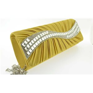 luxury satin pouch for evening wedding ornaments full 25 * 10.5cm Rhinestone 70759