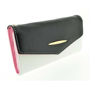 leather look wallet woman l19-70800 H10cm classic collection