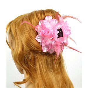 Clip crab Hair Feathers Fashion 8cm and 13cm Rose Flower 70609