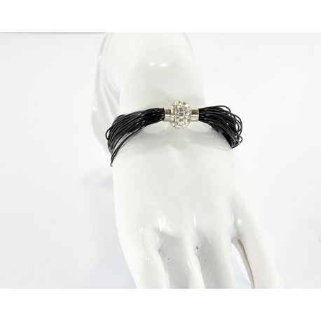 Stone Bracelet Strass magnetic closure L19cm 62539