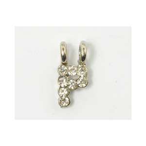 Initial Pendant full rhinestone 8mm name necklace letter p 69838